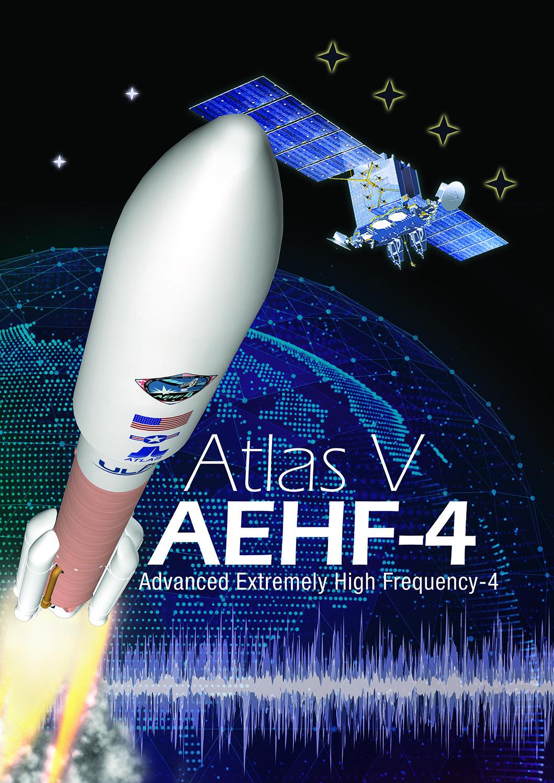 AEHF 4  ATLAS V ULA NORTHOP LOCKHEED 45 SW USAF SATELLITE LAUNCH SPACE PATCH