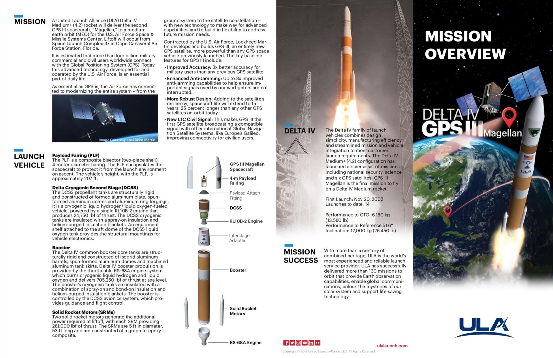 Delta IV GPS III - United Launch Alliance (ULA) Rocket Launch